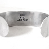 Hidden Message Bracelet - mens jewerly - you are amazing