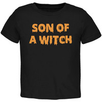 Halloween Son of A Witch Black Toddler T-Shirt
