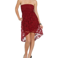 High-Low Lace Tube Dress | Shop Dresses at Wet Seal