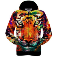 Tiger Paint Zip-Up Hoodie