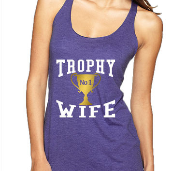 Women's Tank Top Trophy Wife Cool Xmas Love Holiday Gift