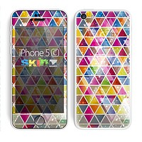 The Colorful Abstract Stacked Triangles copy Skin for the Apple iPhone 5c