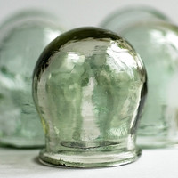 vintage medical apothecary cupping jar...     POVT