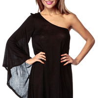 Assymetrical One Should Black Zosia Dress