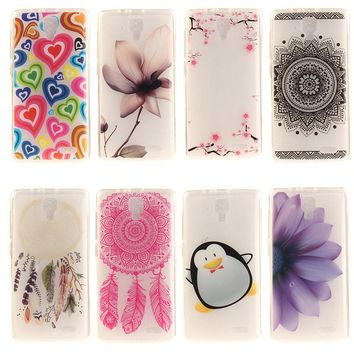 AKABEILA Soft TPU Phone Cases For Lenovo A536 A358T A 536 5.0 inch Case Mobile Phone Covers Housing IMD Painted Bags Shell Skin