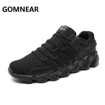 GOMNEAR 2017 Fall Men Running Shoes OUtdoor Antiskid Logging Tourism Walking Sneakers Men Sports Comfortable Free Shipping Shoes