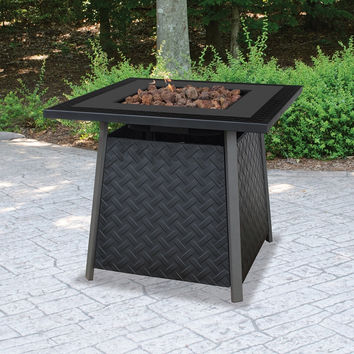 UniFlame 32-in. Square Propane Gas Outdoor Fire Pit with FREE Cover - Fire Pits at Hayneedle