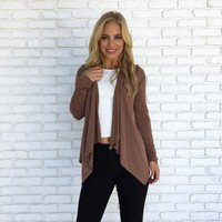 Ambitions Cardigan In Camel Brown