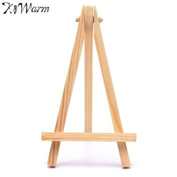 ONETOW KiWarm Portable 5PCS Mini Artist Wooden Easel Wood Wedding Table Card Stand Display Holder For Party Home Decor Supply 9*16cm