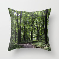 Walk in the Woods Throw Pillow by Mary Andrews