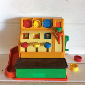 Fisher Price, Vintage Toy Register, Vintage Cash Register, FP Cash Register, Vintage Child Toy, Childs Counting Toy, 70s Toy, Retro Toy