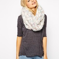 ASOS Eyelash Mixed Chunky Knit Snood at asos.com