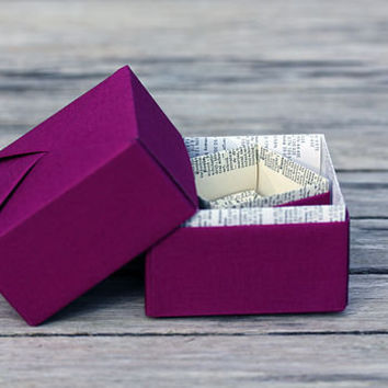 Recycled Book Origami Trinket Box