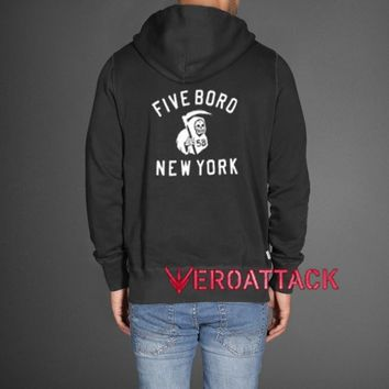 Five Bord New York 5B Black color Hoodies