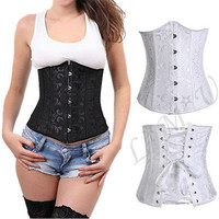 Hot Plus Size 3 color Sleepwear Sexy Women Lace Tops Steel Bustier Lingerie Overbust Corset cincher Dress Waist corset