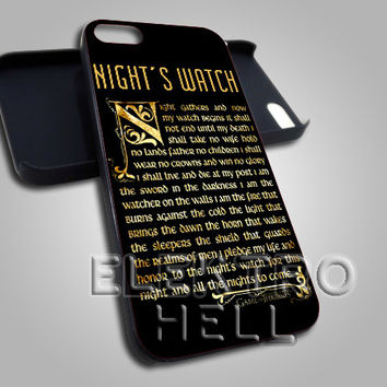AJ 2129 The Night's Watch - iPhone 4/4s/5 Case - Samsung Galaxy S3/S4 Case - Black or White