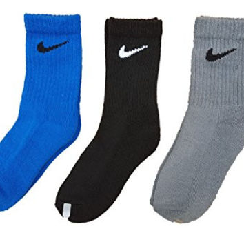 Nike Boys Soft Colored High Crew Socks Size 13C-3Y 3 Pair Pack