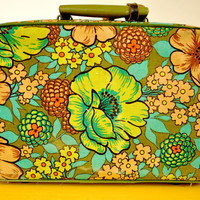 Vintage Floral Suitcase by LilytheDogVintage on Etsy