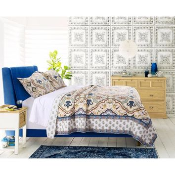 Monte Carlo Style Twin Size Quilt Set, 2-Piece