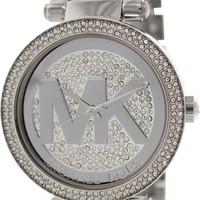 Michael Kors Parker Silver Crystal Pave Dial Stainless Steel Ladies Watch MK5925