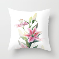 Lilium Throw Pillow by printapix