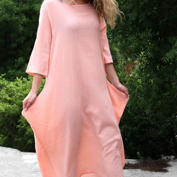 Pilkington Dress - Coral by Bryn Walker