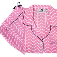 Vortex Pajama Set, Pink, Pajamas
