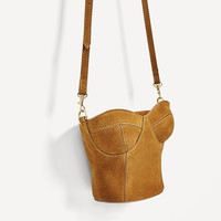 LEATHER CORSET CROSSBODY BAG DETAILS