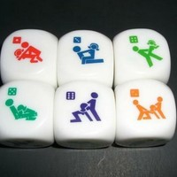 Love Sex Dice Game Toy for Bachelor Party Adult Lovers/couple Novelty Toys (2 Pcs)