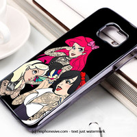 Snow Ariel And Alice Punk Tattoos Disney Princess Samsung Galaxy S6 and S6 Edge Case