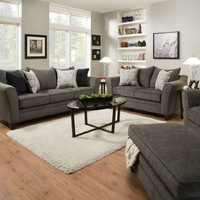 Simmons 6485 Sofa and Loveseat