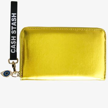 FOLD 'CA$H STASH' YELLOW WALLET