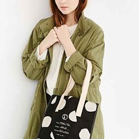 Fleabags Dot Milk Tote Bag- Black One