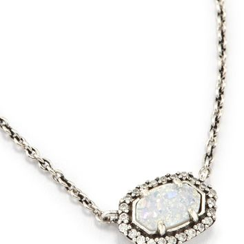 Chelsea Pendant Necklace In Antique Silver