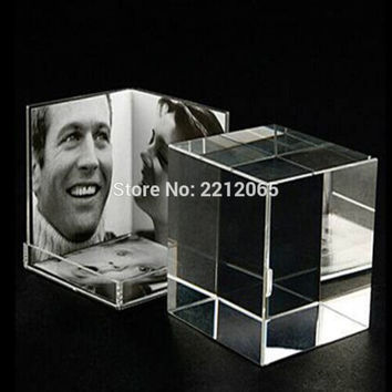 Small Size Desktop Clear Acrylic Picture Photo Cube for Multi Photos PF-033