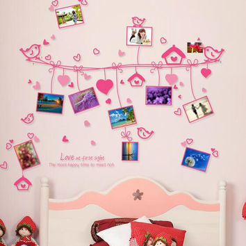 Love line photo wall Love the frame Romantic bedroom setting wall decorative stickers on the wall SM6
