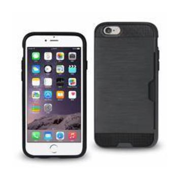 REIKO IPHONE 6 SLIM ARMOR HYBRID CASE WITH CARD HOLDER IN NAVY