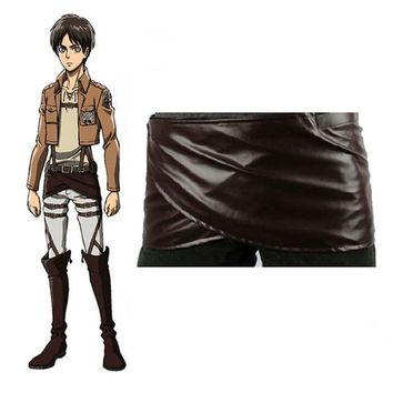 Cool Attack on Titan  Cosplay Costume Japanese Anime no  Chocolate Leather Skirt Apron Linking Tape Adjustable Waist AT_90_11