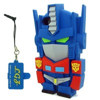 DD(TM) 3D Cartoon Super Hero Blue Transformers Autobot Optimus Prime Soft Silicone Case Skin Protective Cover for Apple iPhone 5 5S 5C 5G 5th Generation with 3 in 1 Anti-dust Plug/LCD Cleaning Cloth/Cable Tie