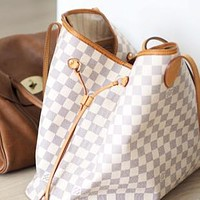 Louis Vuitton LV Fashion Women Shopping Leather Tote Handbag Shoulder Bag Purse Wallet Set Two-Piece