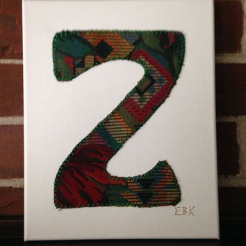 Initial Z #1 Fabric Wall Art