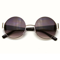 Vintage Lennon Inspired Oversize Round Thick Sunglasses