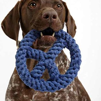 Jax & Bones Peace Sign Rope Dog Toy - Navy One