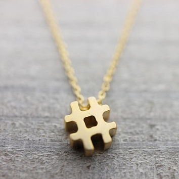 Gold filled chain pound key gold necklace