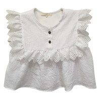 Blu Pony Vintage Summer White Rosie Top