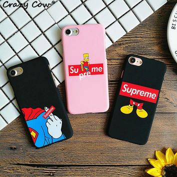 Fashion Supreme Simpson Mickey Mouse Superman Finger Phone Cases For iPhone 5 5s Se 6