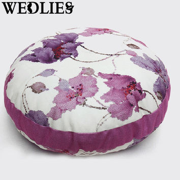 Pastoral Cotton Cushion Tatami Sofa Cushion Pumpkin Shape Removable And Washable Meditation Cushion Home Room Decor Yoga Cushion