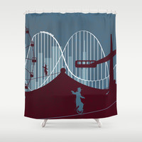 Minimalist circus Shower Curtain by Tony Vazquez
