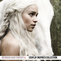 PLATINUM WHITE BLONDE Romance Wave Wig  //  Daenerys Targaryen Game Of Thrones Inspired // Human or Synthetic Hair // 24 Inches