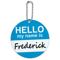 Frederick Hello My Name Is Round ID Card Luggage Tag
